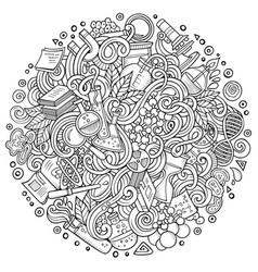 Cartoon cute doodles science vector