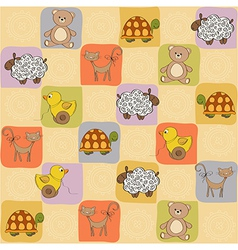 childish seamless pattern with toys vector image