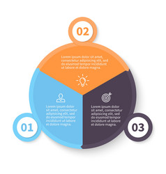 Circular infographics with number options vector image vector image