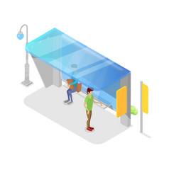 city transport platform isometric 3d icon vector image vector image