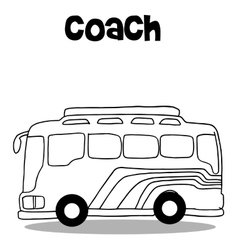 Coach bus of art vector