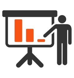 Crisis reporting person flat icon vector
