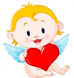 cupid angel vector image vector image
