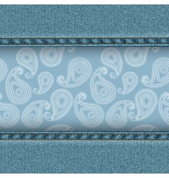 Denim and paisley vector