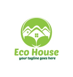 Eco House Green House Logo Design vector image