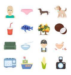 ecology life rest and other web icon in cartoon vector image