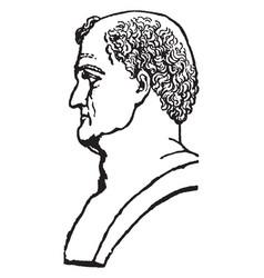 Emperor titus flavius vespasian vintage vector