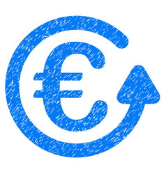 Euro chargeback grunge icon vector