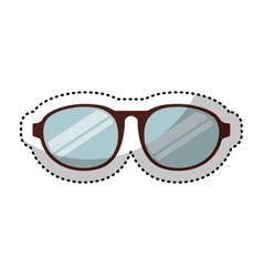 Eye glasses style icon vector
