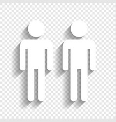 Gay family sign white icon with soft vector
