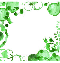 green tea stain on a white background vector image