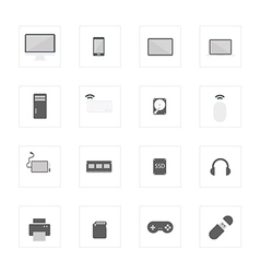 Icon computerdevice vector