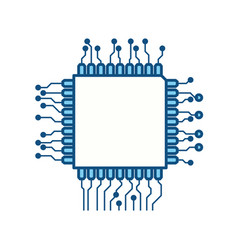 microchip circuit technology vector image