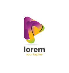 r media logo vector image vector image