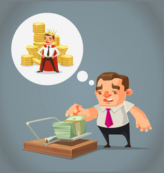 ruined unemployed businessman character vector image vector image
