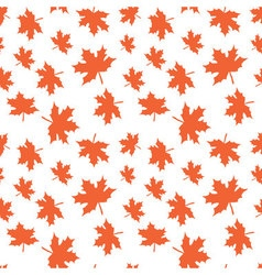 Seamless pattern with autumn leaves Reaping autumn vector image vector image