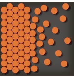 Set of orange pills vector