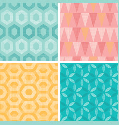 Set of vintage geometric abstract seamless vector