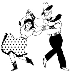 Square dance clipart vector