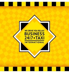 Taxi symbol with checkered background - 25 vector