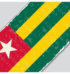 Togo grunge flag vector