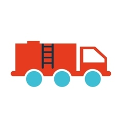 truck fuel tank isolated icon vector image vector image