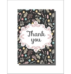 Universal card template with floral pattern vector
