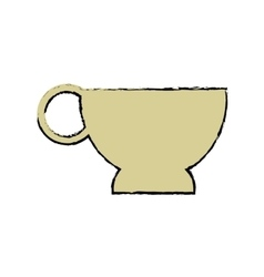 Cartoon cup coffe break time office icon vector