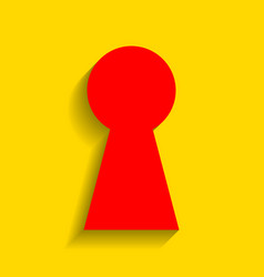 Keyhole sign   red icon with vector