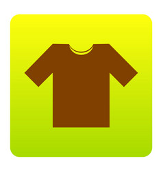 T-shirt sign   brown icon at vector