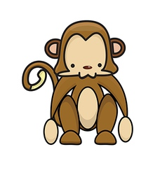 Monkey cartoon vector image