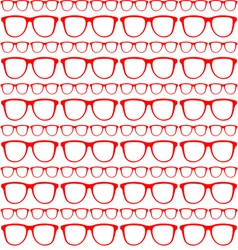 seamless red pattern of sunglasses vector image