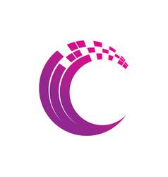 Abstract circle technology logo image vector