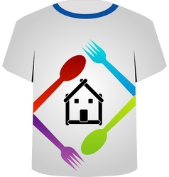 T shirt template- food lover vector