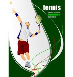 al 0322 tennis vector image