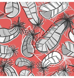 Seamless pattern of feathers vector