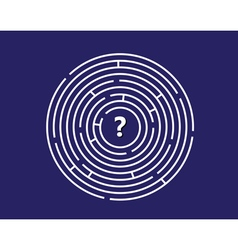 Round labyrinth vector