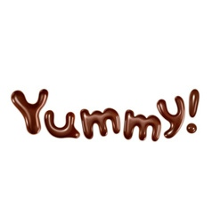 Yummy inscription stylish isolated on white vector