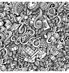 Cartoon hand-drawn doodles on the subject of art vector