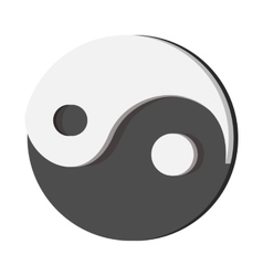 Ying yang cartoon icon vector image