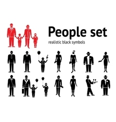People icon set Standing going ladies men vector image