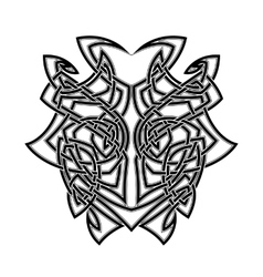 Elegant difficult curled ornamental gothic tattoo vector