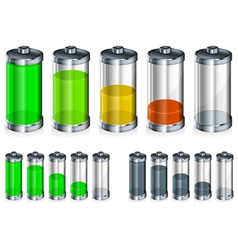 Battery energy color vector