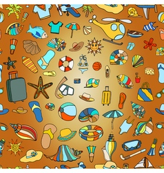 Summer time theme pattern vector