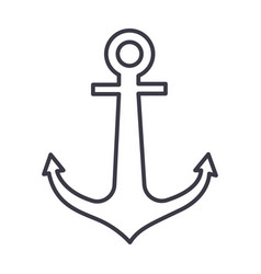 anchor line icon sign on vector image vector image