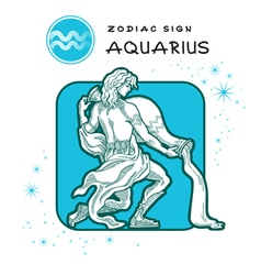 Aquarius zodiac sign vector