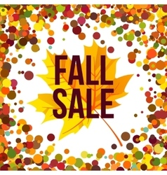 Autumn seasonal sale label vector image vector image