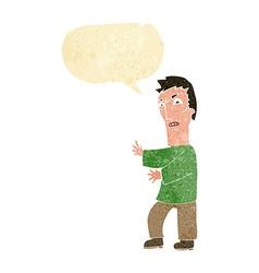 Cartoon angry man with speech bubble vector