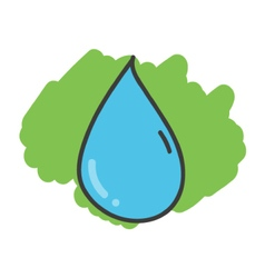 Cartoon doodle drop of water vector