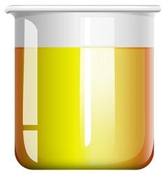 Chemical mixture in beaker vector